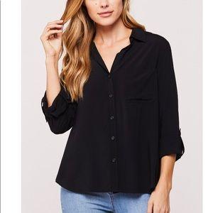 NWT! Velvet Heart Elisa Black Button Up Shirt